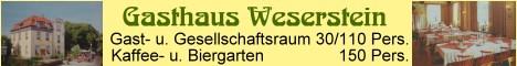 Gasthaus-Weserstein in Hann. Münden, Landkreis Göttingen, Südniedersachsen. Wo Werra sich und Fulda küssen,Sie ihre Namen büssen müssen und hier entsteht durch diesen Kuss deutsch bis zum Meer der Weser Fluss. Hann. Münden, d. 31. Juli 1899